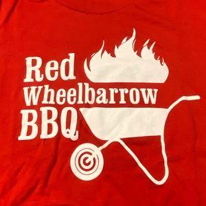 🛍 Super soft , Red Wheelbarrow BBQ tshirt.